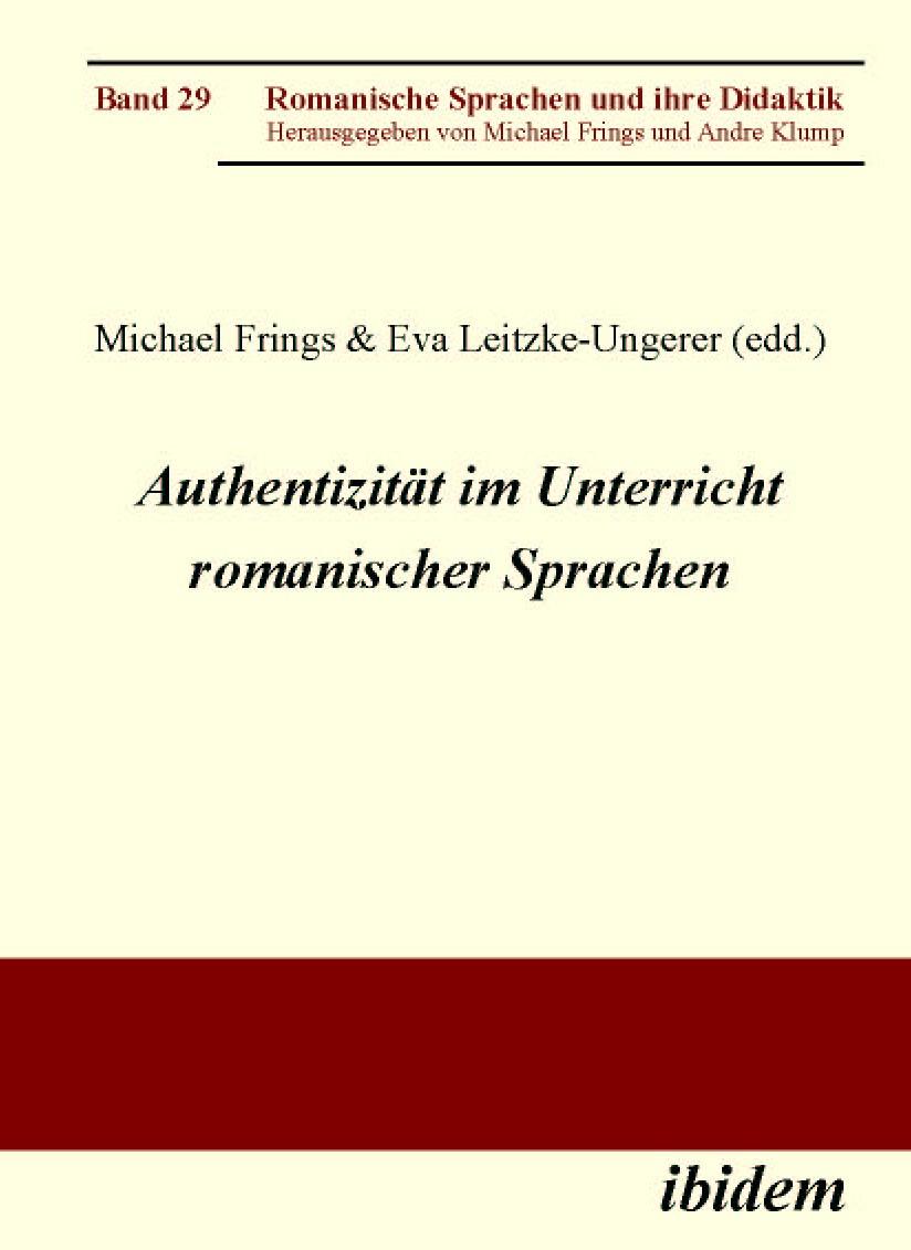 Authentizität im Unterricht romanischer Sprachen
