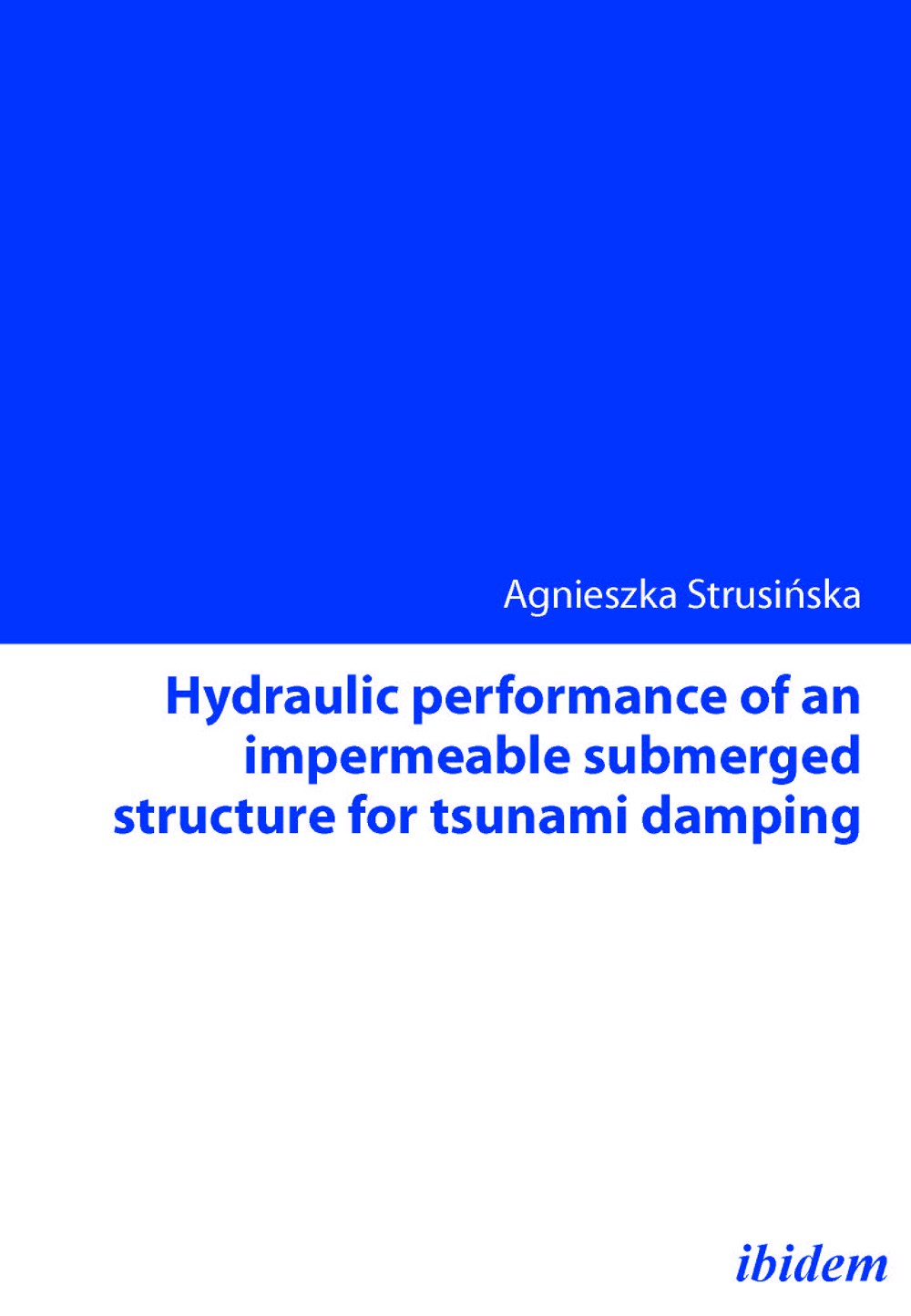 Hydraulic performance of an impermeable submerged structure for tsunami damping