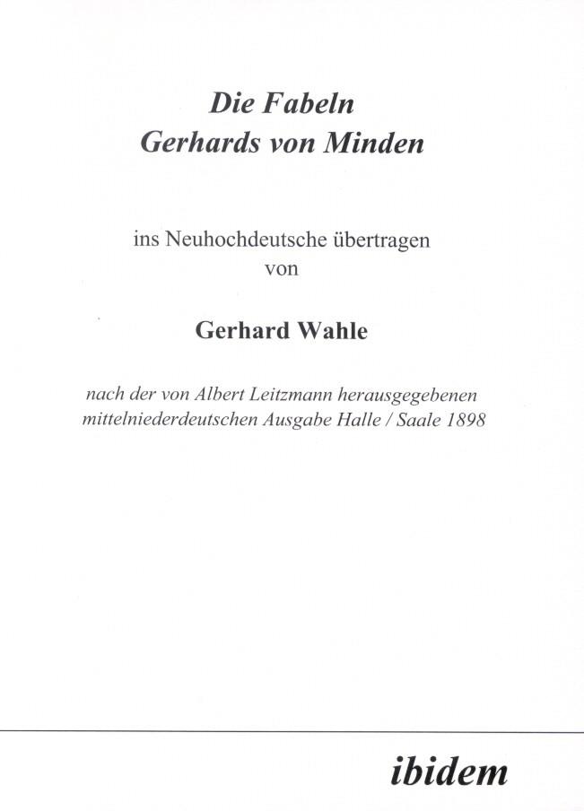 Die Fabeln Gerhards von Minden