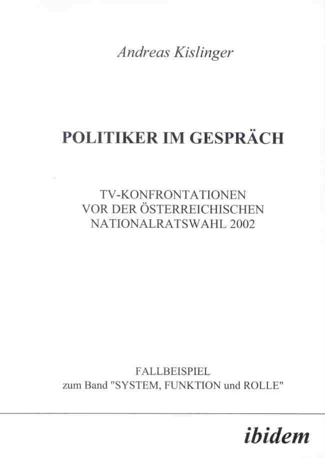 POLITIKER IM GESPRÄCH
