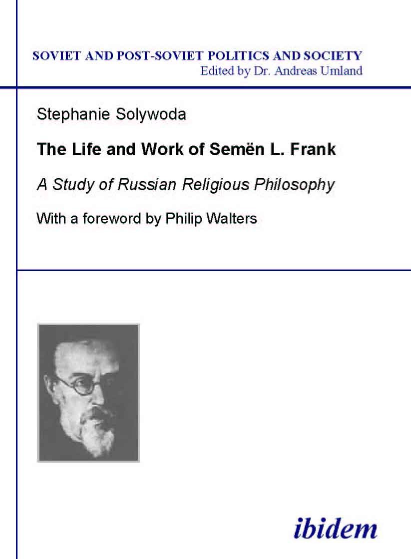 The Life and Work of Semen L. Frank