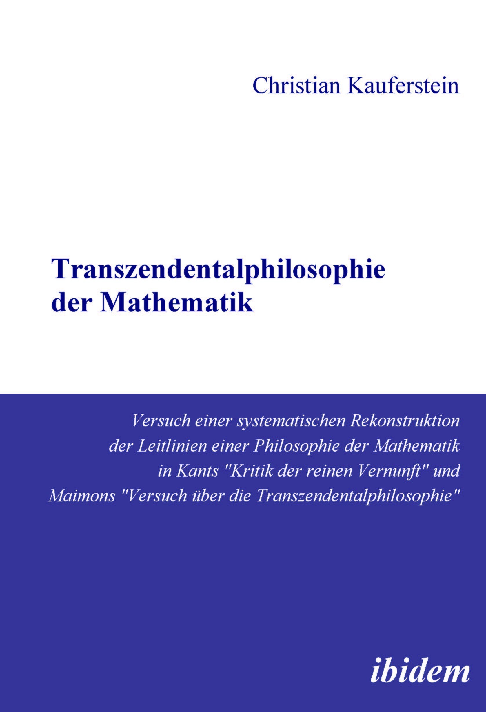 Transzendentalphilosophie der Mathematik