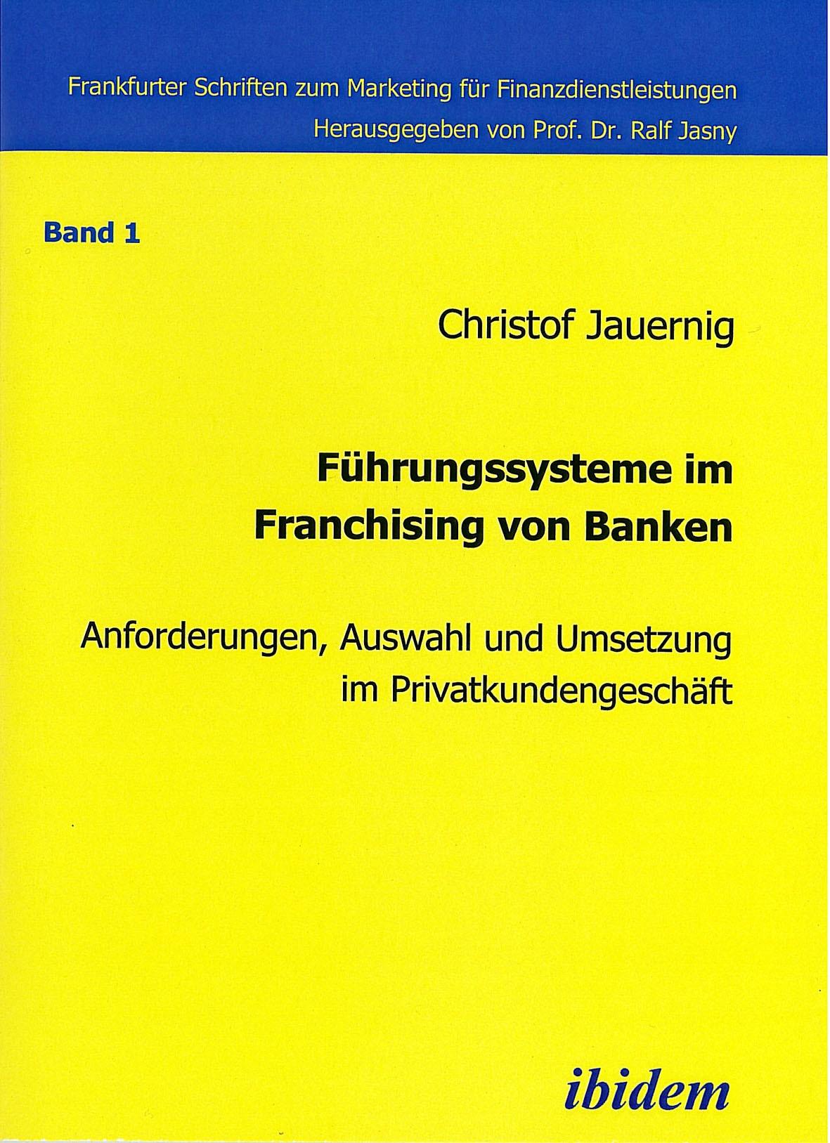 Führungssysteme im Franchising von Banken