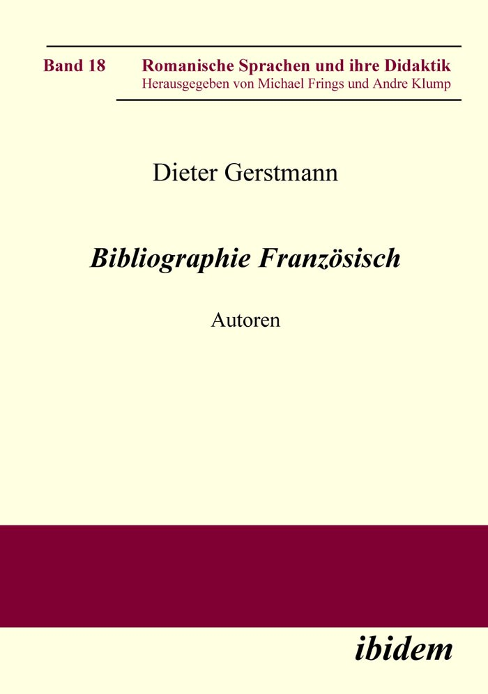 Bibliographie Französisch
