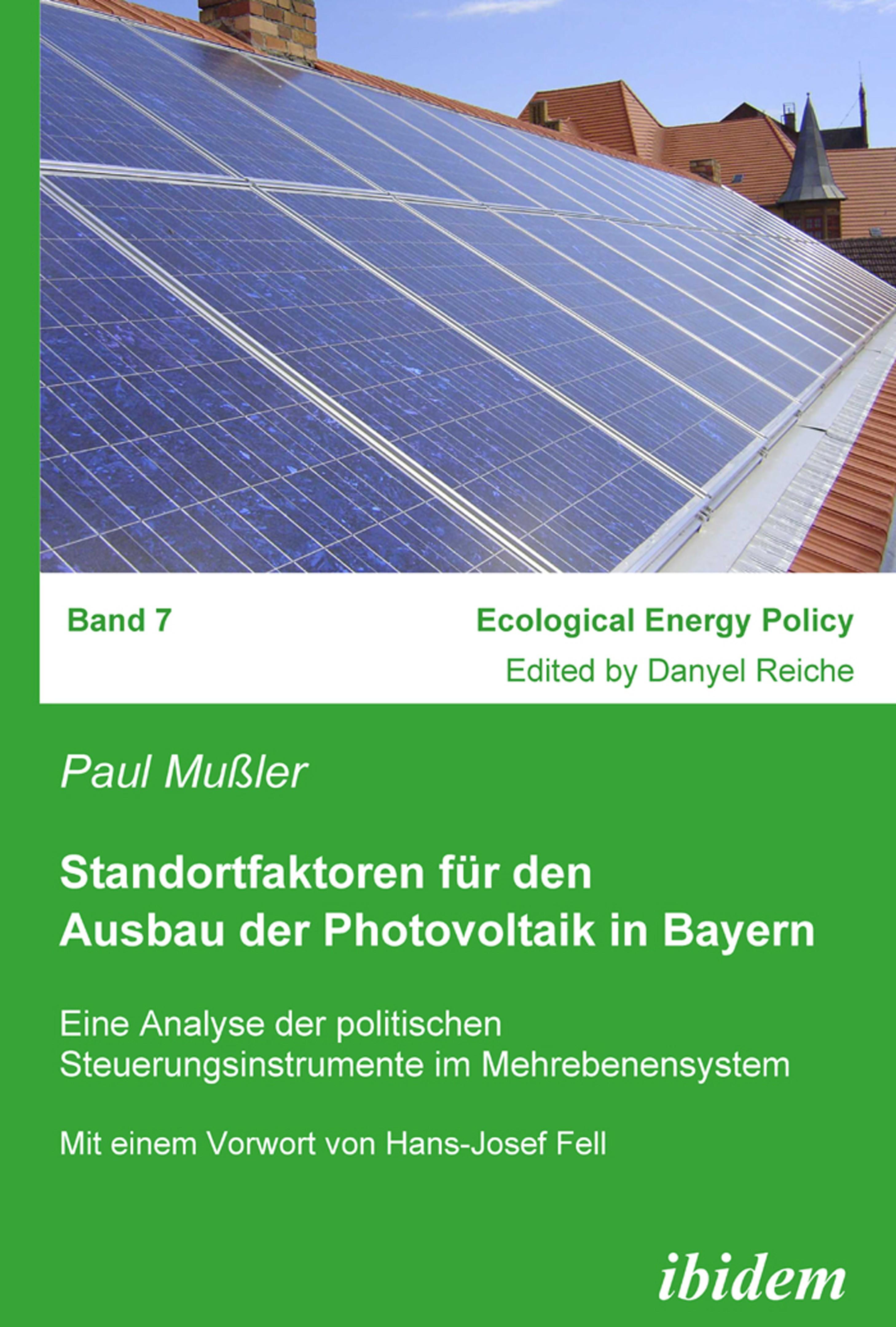 Standortfaktoren für den Ausbau der Photovoltaik in Bayern