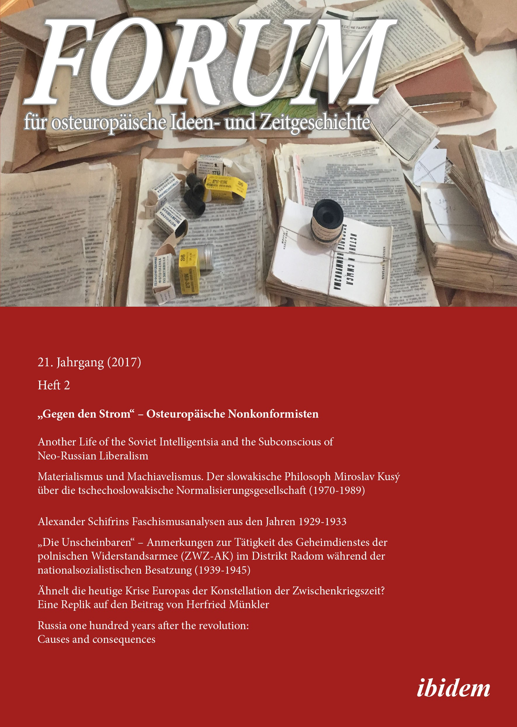 Forum für osteuropäische Ideen- und Zeitgeschichte