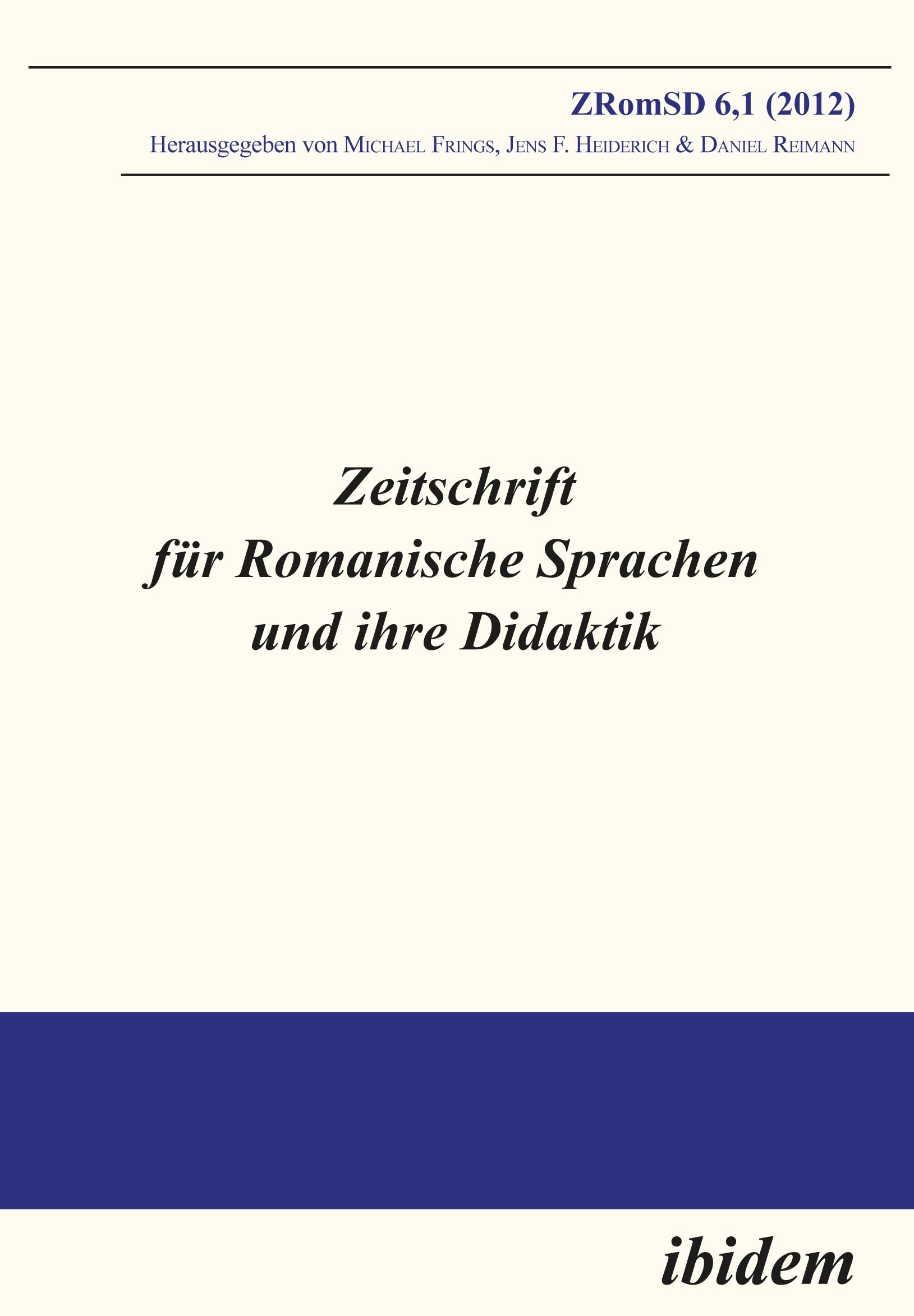 Zeitschrift für Romanische Sprachen und ihre Didaktik