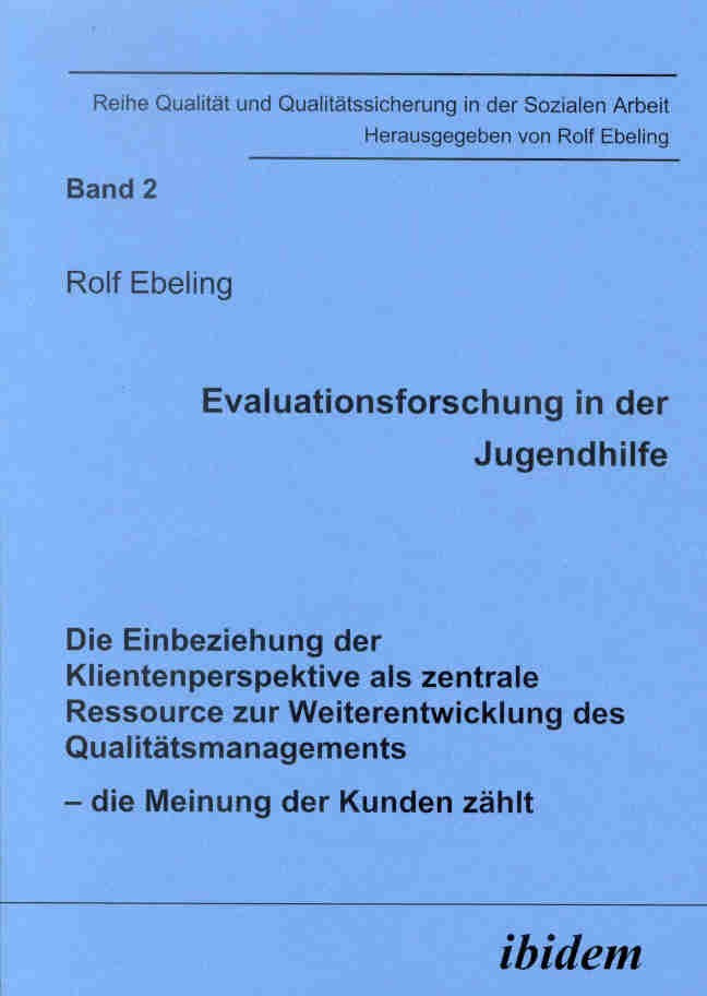 Evaluationsforschung in der Jugendhilfe
